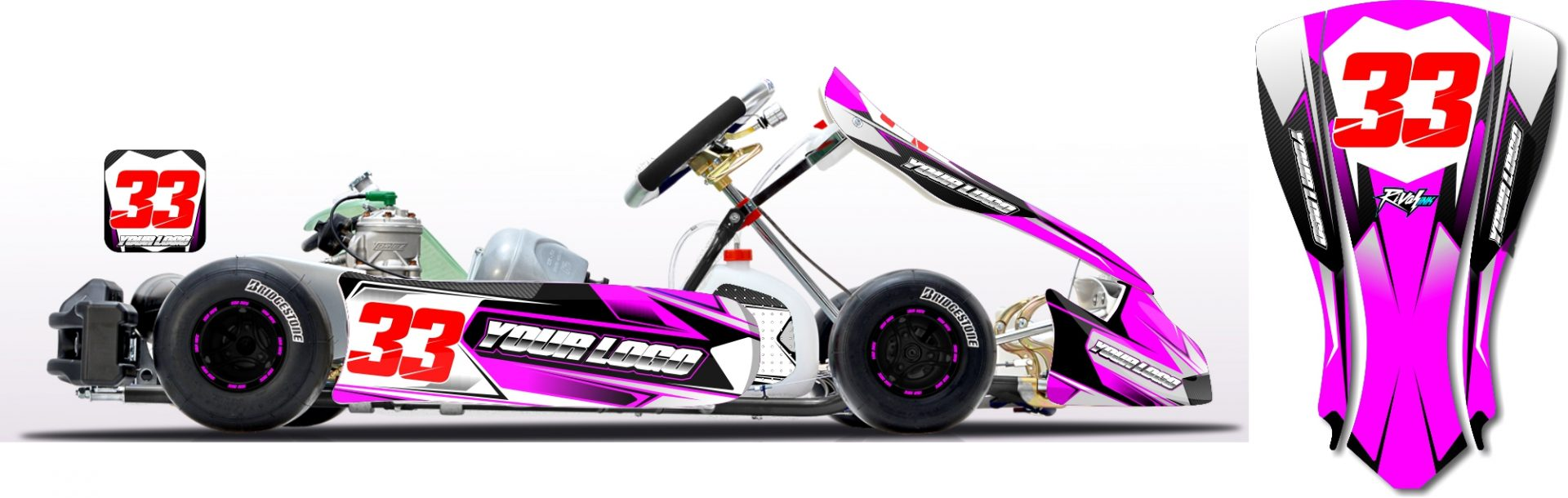 CARBON KART KIT PINK Rival Ink Design Co