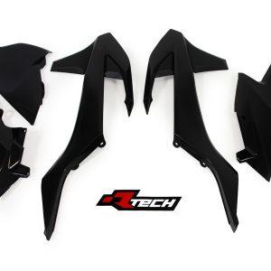 RTECH KTM EXC-EXCF 2017 Black 5Pcs Plastic Kit