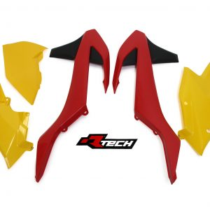 RTECH VINTAGE  Red/Yellow  2017 EXC EXC-F 5 Pcs Plastic Kit