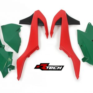 RTECH VINTAGE  Red/Green  2017 EXC- EXC-F 5 Pcs Plastic Kit