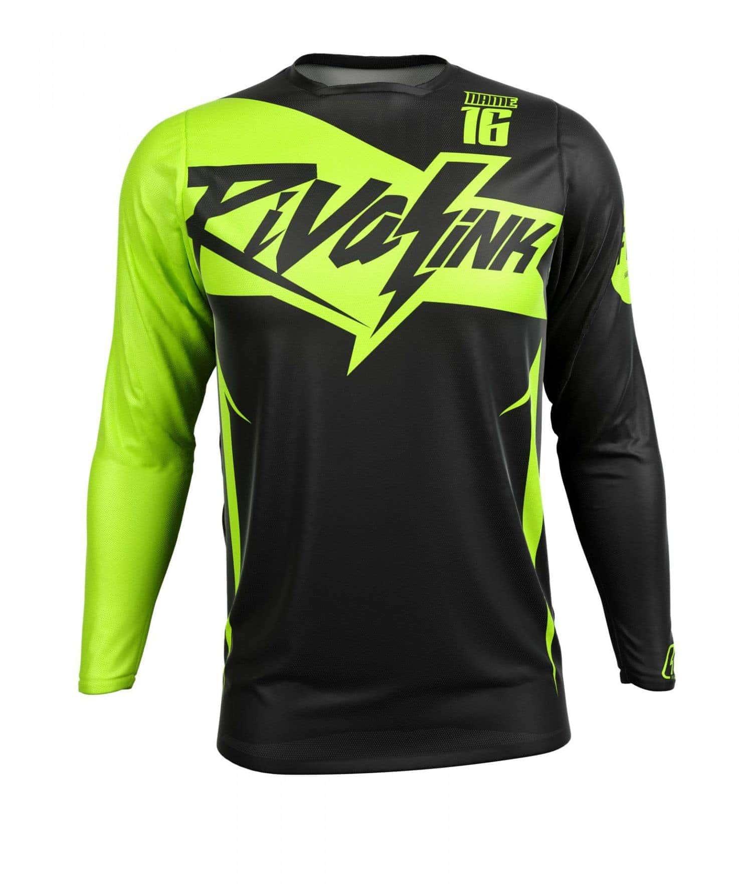 premium fit custom sublimated jersey saber neon rival ink design co custom motocross graphics. Black Bedroom Furniture Sets. Home Design Ideas